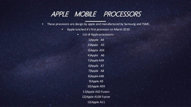 Apple mobile processors