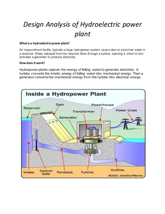 Diagram Of Hydroelectric Dam And Powerhouse Draw A Diagram Of A