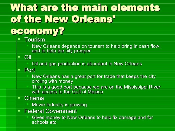 economics of new orleans New orleans regional council of business economics was chartered in 1972 and is one of the oldest continuous business organizations in southeast louisiana.