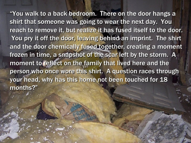 """"""" You walk to a back bedroom.  There on the door hangs a shirt that someone was going to wear the next day.  You reach to ..."""