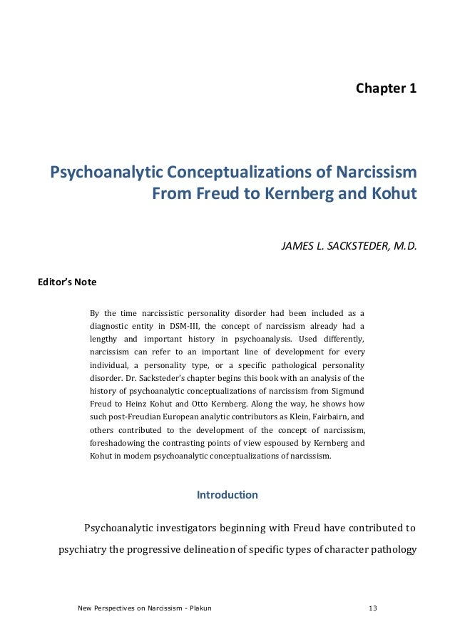 an introduction to the analysis of narcissistic personality disorder First combined grey and white matter analysis in narcissistic personality disorder introduction narcissistic revealing high narcissistic traits in a non.
