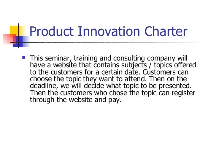 New product development for Product innovation consultants