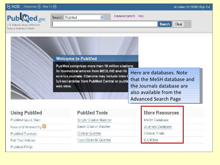 how to search articles in pubmed