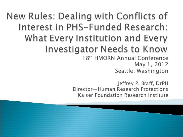 18th HMORN Annual Conference                     May 1, 2012             Seattle, Washington                 Jeffrey P. Br...