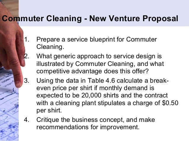 commuter cleaning a new venture proposal Gase 32: commuter cleaning—a new venture proposal 84 case 33: amazoncom 86 selected bibliography 88 endnotes 89 chapter 4 the service encounter 91.