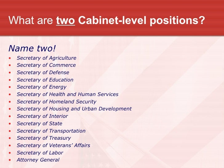 cabinet level positions what are two cabinet level today bruin 12948
