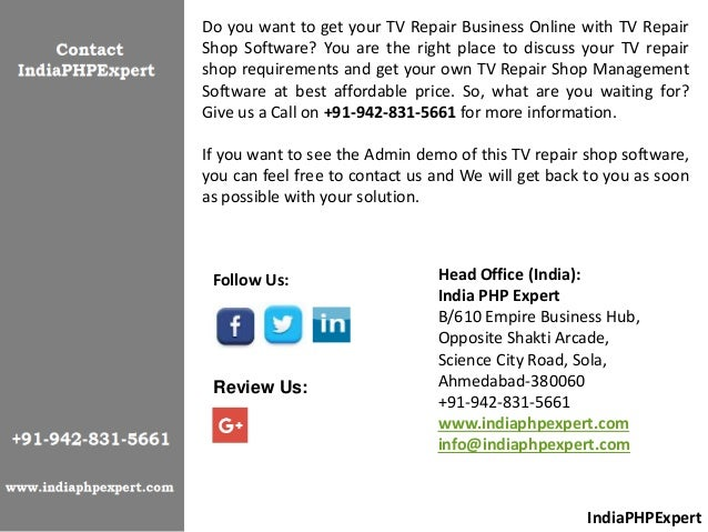 Your Trusted TV Repair Software Solutions Offered For All TV
