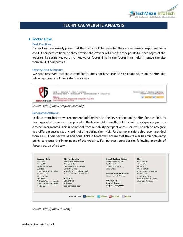 Website analysis report Slide 3