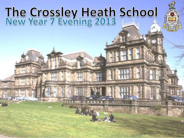 Welcome to Crossley Heath Mrs Wendy Moffat: Head Teacher Mr Jonathan Brownlie: Deputy Head Mrs Penny Doig: Deputy Head Mr ...