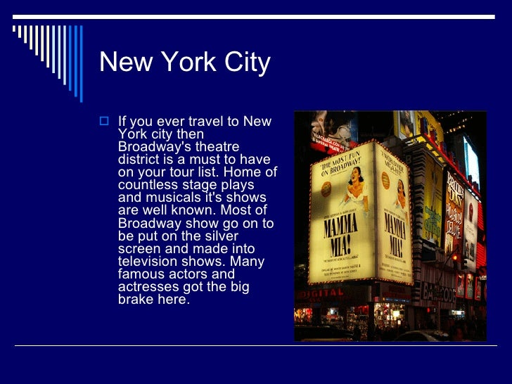Stage And Screen Travel New York