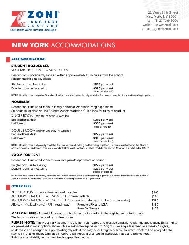 22 West 34th Street  New York, NY 10001  tel.: (212) 736-9000  website: www.zoni.com  email: agent@zoni.com  New York acco...
