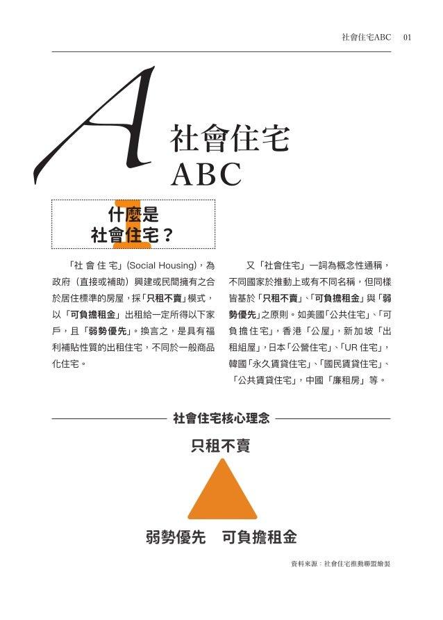 社會住宅手冊(Part A) 社會住宅ABC