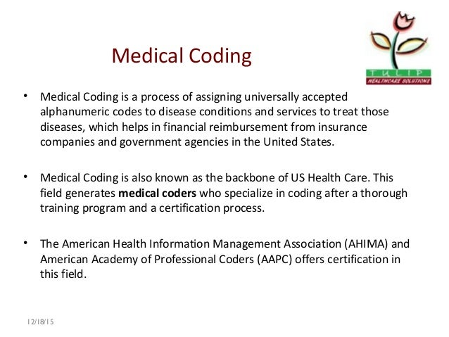 Tulip Healthcare Introduction to Medical coding