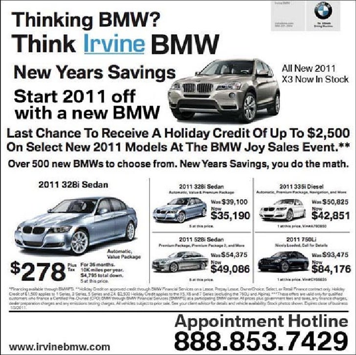 2011 New BMW Savings Special - Irvine BMW CA