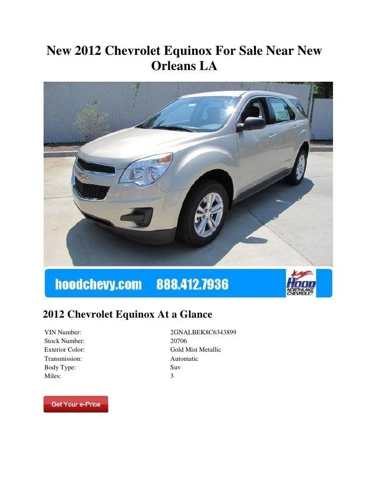New 2012 Chevrolet Equinox For Sale Near New Orleans LA