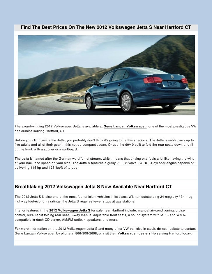 New 2012 volkswagen jetta s in gene langan volkswagen glastonburry
