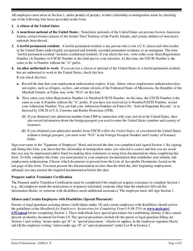 New 2013 form i-9.