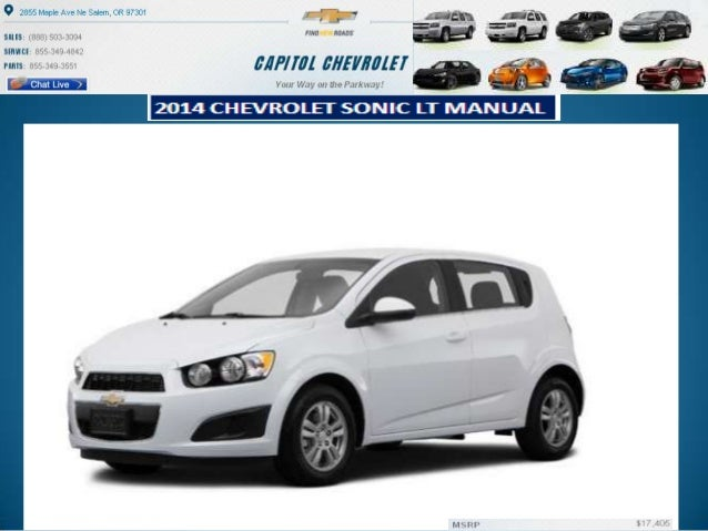 new 2014 chevrolet sonic lt manual for sale in salem or. Black Bedroom Furniture Sets. Home Design Ideas