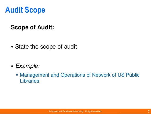 internal audit scope template - conducting an opening meeting for a quality audit
