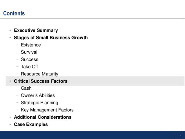 organizational growth and survival key factors Key success factors - organizational culture 3384 words   14 pages in this assignment we introduce the idea that the organizational culture is the personality of an organization which can be defined, measured, sustained and changed and have an important impact on an organization's effectiveness.