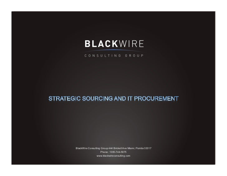 BlackWire Consulting Group 444 Brickell Ave Miami, Florida 33317                     Phone: 1305-744-5075                 ...