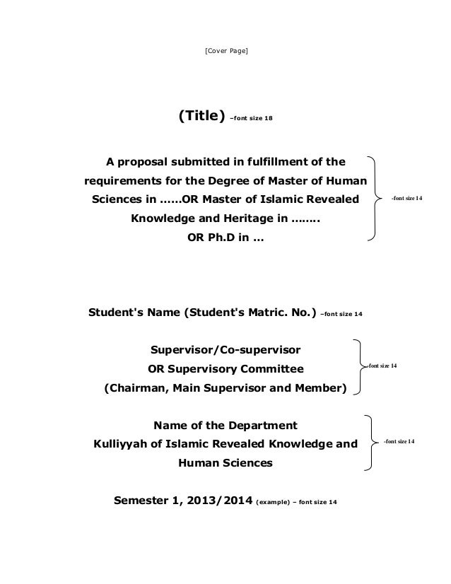 Master thesis proposal layout