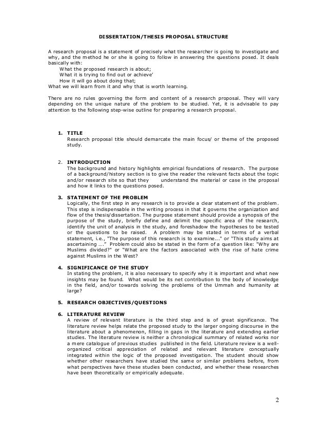 Thesis Proposal Samples Pdf