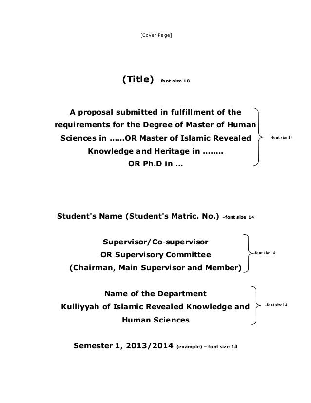 Thesis Proposal Sample Archive