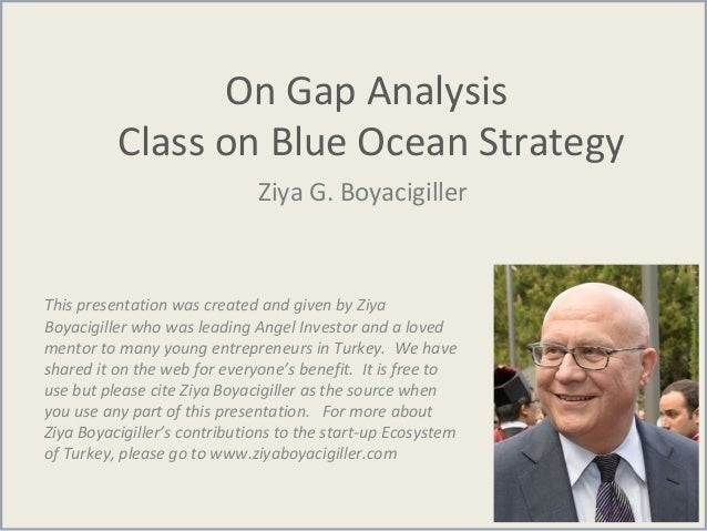 On Gap Analysis Class on Blue Ocean Strategy Ziya G. Boyacigiller This presentation was created and given by Ziya Boyacigi...