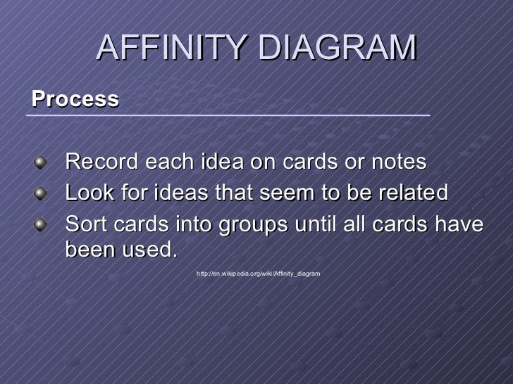 New 7 management tools 6 affinity diagram ccuart Images