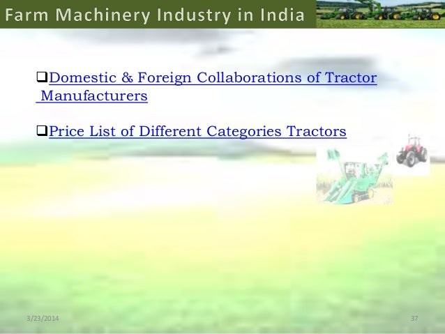 Research paper over john deere tractors