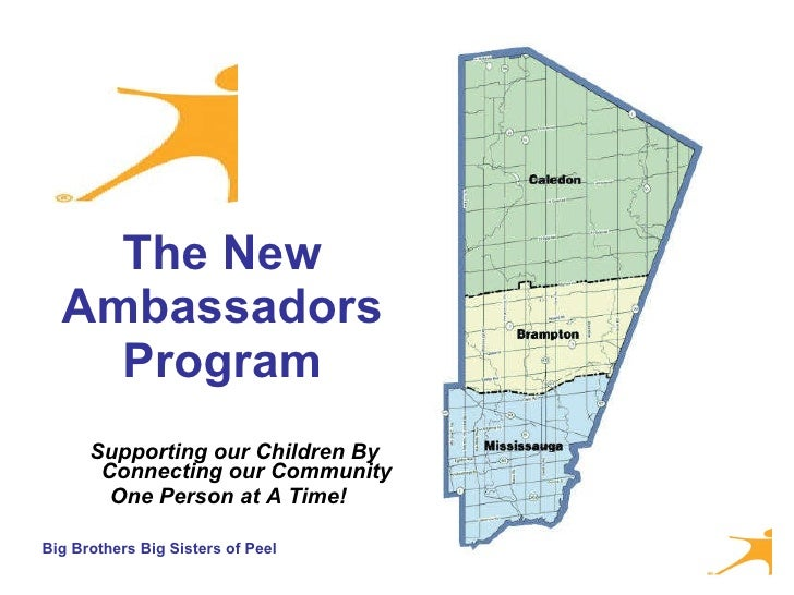 The New Ambassadors Program <ul><li>Supporting our Children By Connecting our Community  </li></ul><ul><li>One Person at A...