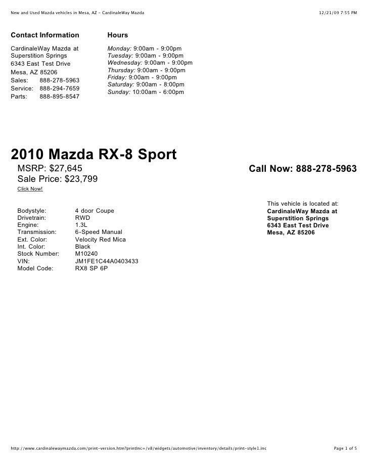 New and Used Mazda vehicles in Mesa, AZ - CardinaleWay Mazda                                                              ...