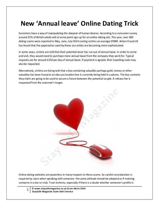 con artist on dating websites