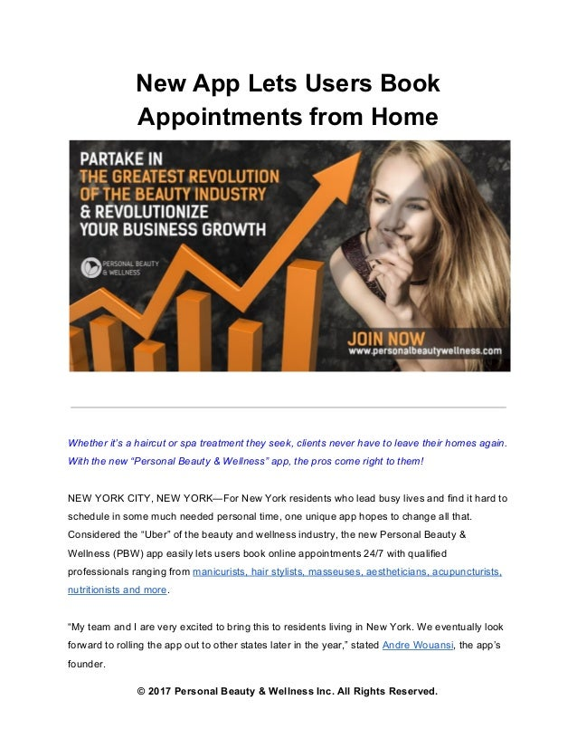 New App Lets Users Book Appointments From Home