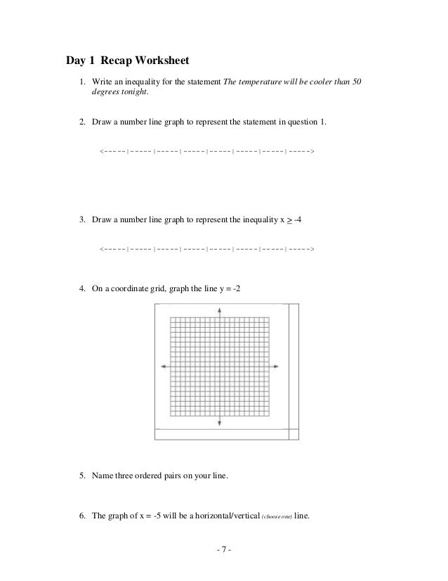 WRITING TWO STEP INEQUALITIES WORKSHEET