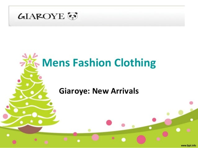 Mens Fashion Clothing Giaroye: New Arrivals