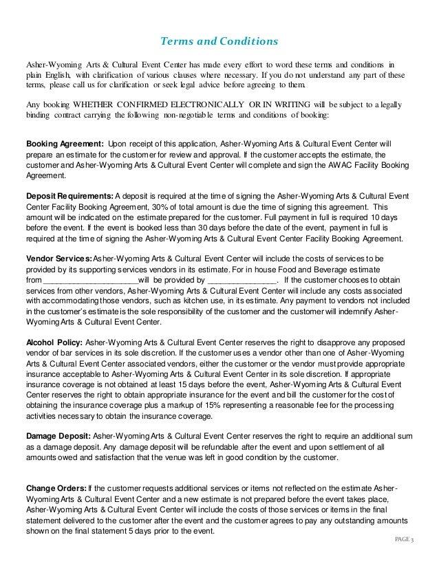 Awac rental agreement 6 page 3 terms platinumwayz