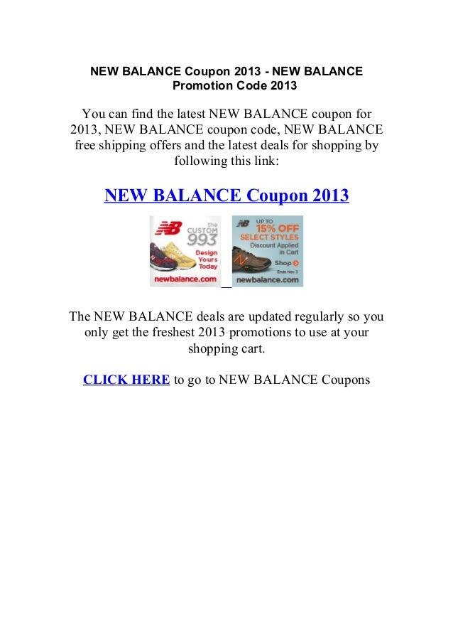 New Balance Discount Coupon Code