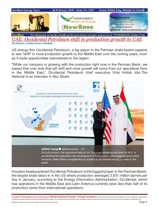 New base energy news 04 febuary 2019 issue no 1229 by khaled