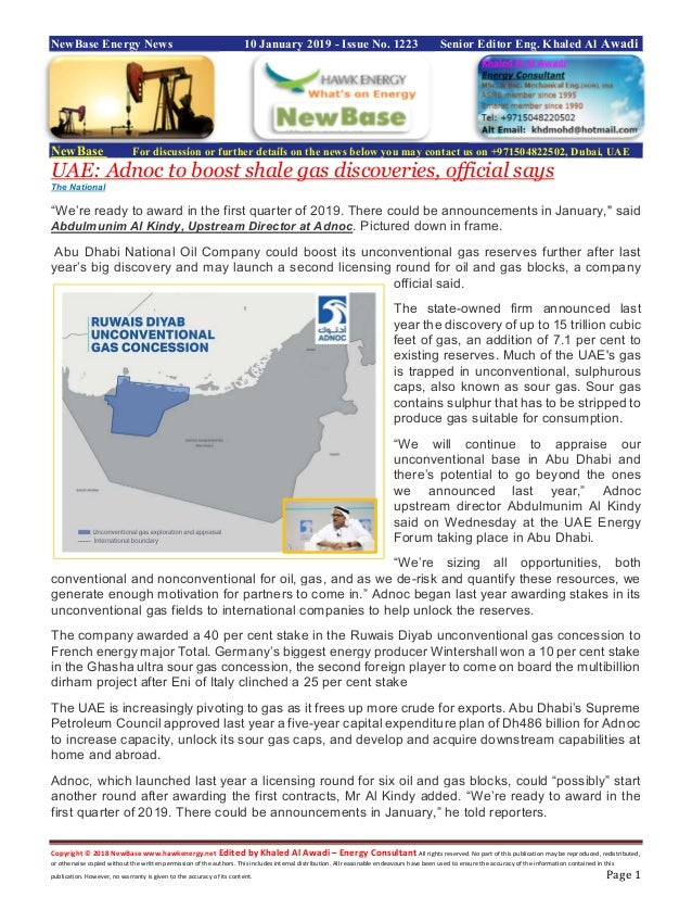 New base energy news 10 january 2019 issue no 1223 by khaled