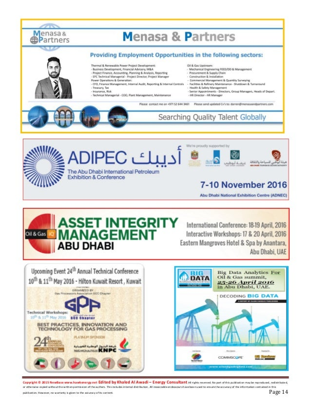 New base energy news issue 834 dated 20 april 2016