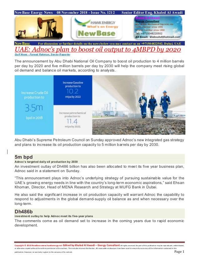 New base energy news november 08 2018 no-1212 by khaled al awadi
