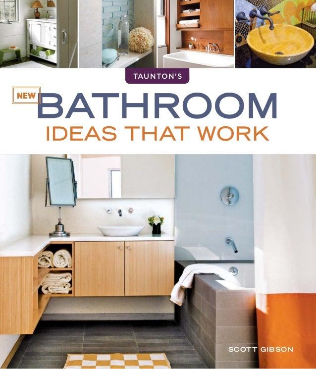 Bathroom IDEAS THAT WORK Tauntonu0027s NEW Scott Gibson ...