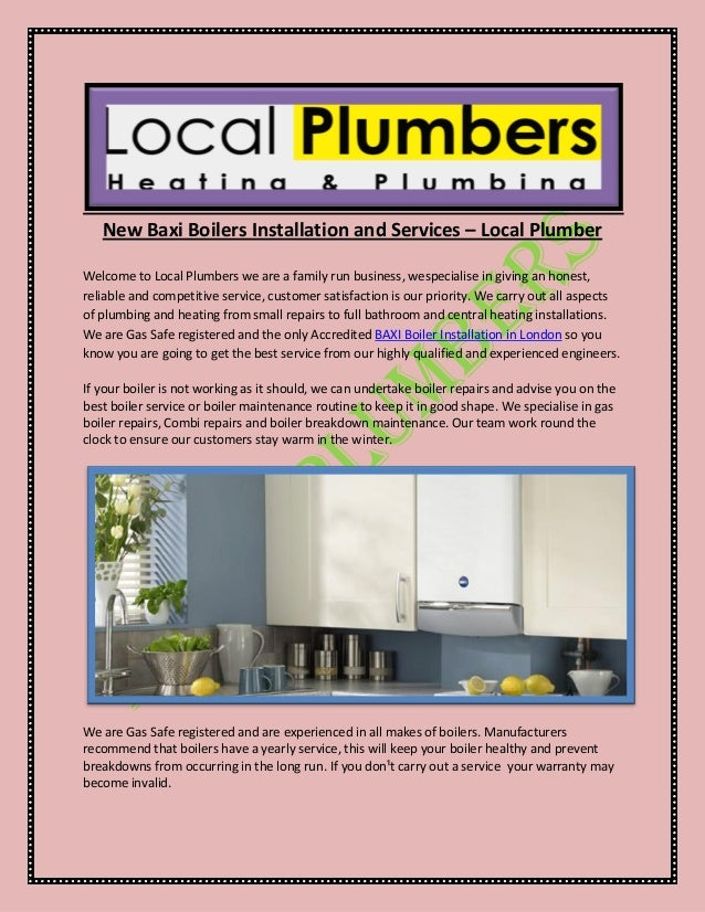 New baxi boilers installation and services – local plumber