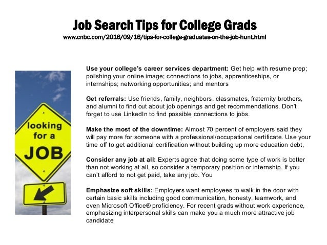 jobs out of college