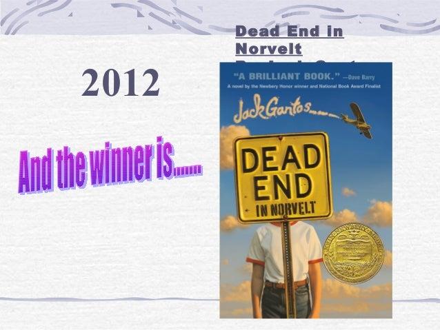 2012  Dead End in Norvelt By Jack Gantos