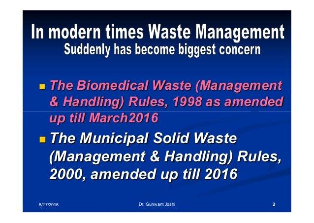 New bio medical waste management rules 2016 Slide 2