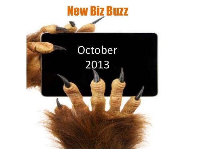 New Biz Buzz October 2013