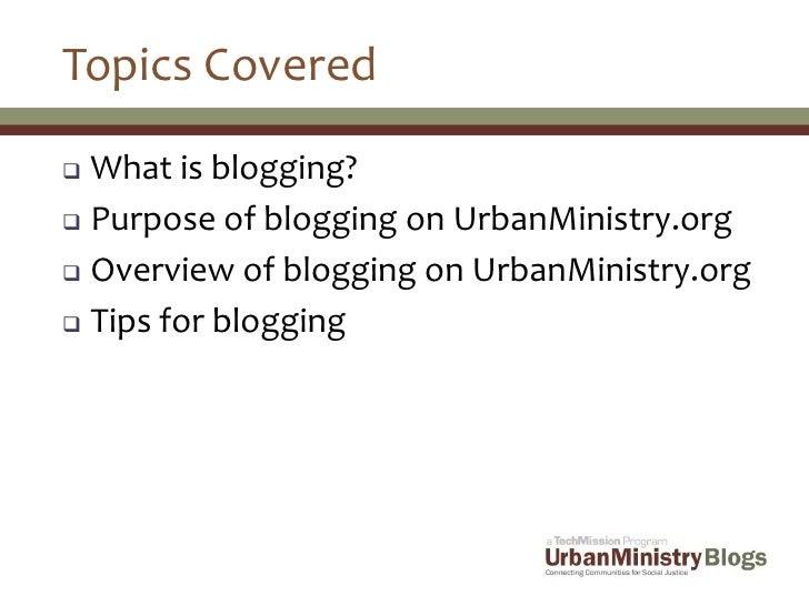 UrbanMinistry.org Blogger Presentation Slide 2